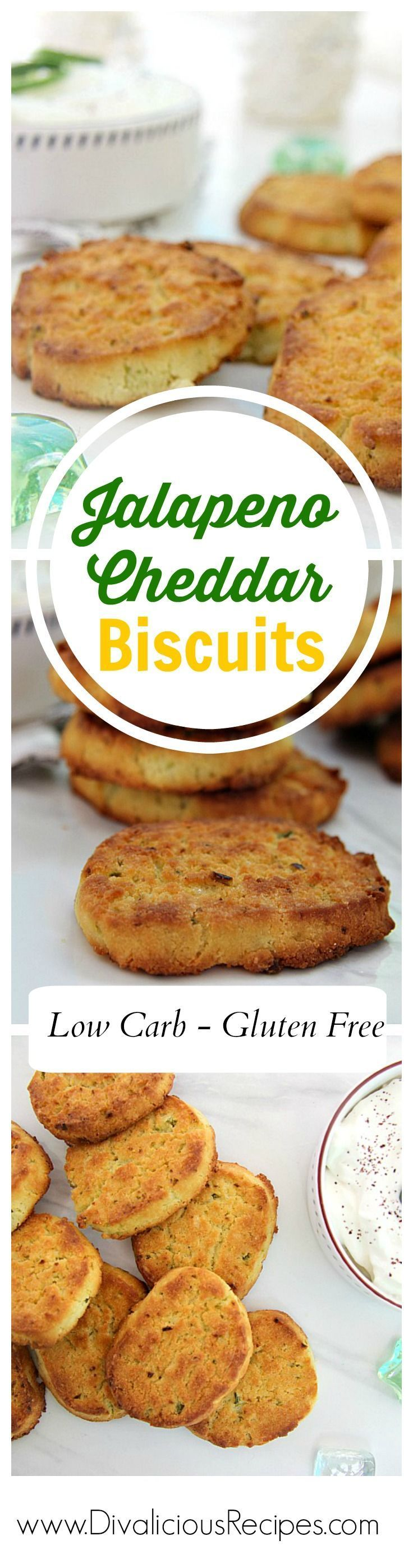 Jalapeno Cheddar biscuits are a delicious melt in your mouth with a punch bite.  Baked with coconut flour they are low carb and gluten free.  At only 1g net carb each biscuit you can happily have a feast!