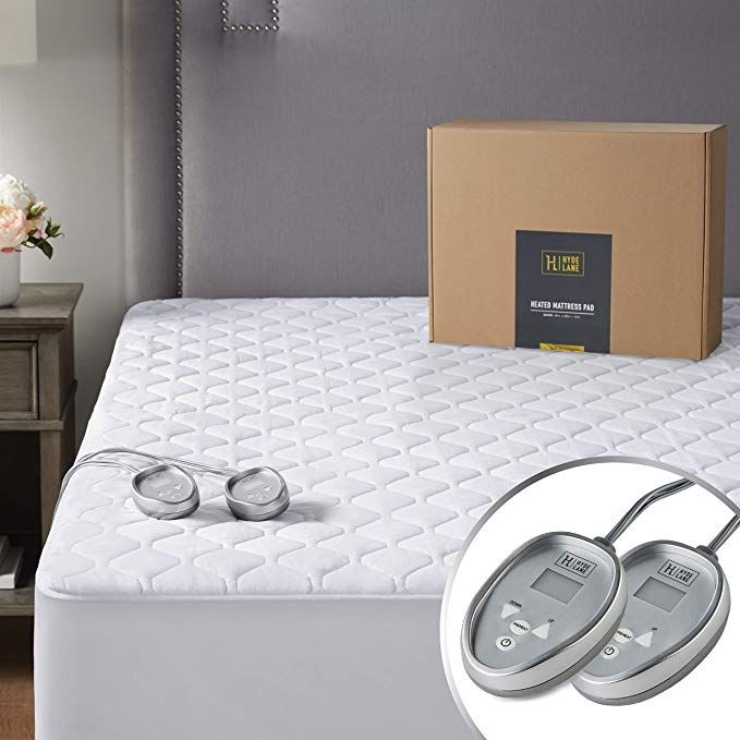 Amazon Com Premium Electric Heated Mattress Pad King Size Dual Control Quilted Cotton Top Bed Warmer With 20 Heat Setting Auto Shut Of Heated Mattress Pad Mattress Mattress Pad