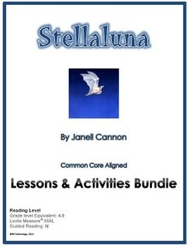 Stellaluna by Janell Cannon Lessons & Activities Bundle (CCSS Aligned).  This 18-page lesson and activity bundle includes: •Depth of Knowledge (DOK) Higher Order Thinking Questions to use during your read-aloud •Vocabulary Words  •A Vocabulary Word Search •Vocabulary Classwork/Homework ideas •Shared Reading Information •Graphic Organizers for the study of fruit bats and birds (science connection)