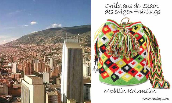 Eine wunderbare Stadt, ewiger Frühling und eine Mochila Wayuu - Was will man mehr ? Hol dir jetzt eine farbenfrohe Tasche auf www.molago.de color=Joy - couleur=joie - color=alegria #molago #wayuu #mochila #tasche #handgemacht #handmade #wayuumochila #mochilawayuu #kolumbien #fashion #trend