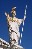 Statue of Athena Parthenon - Athens, Greece