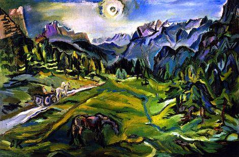 Oskar Kokoschka, Dolomite Landscape  on ArtStack #oskar-kokoschka #art