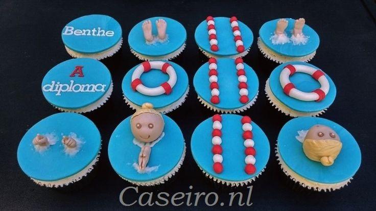 Cupcakes Diploma A Zwemmen