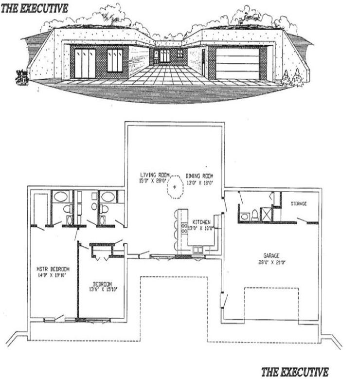1000 ideas about underground house plans on pinterest for Earth sheltered home plans