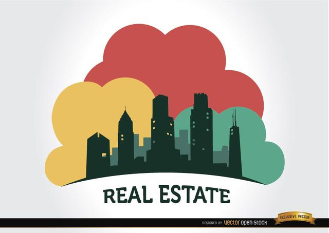 Real estate buildings company logo