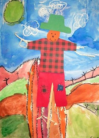 Deep Space Sparkle – Not so scary Scarecrows: Scarecrow Watercolor and Collage