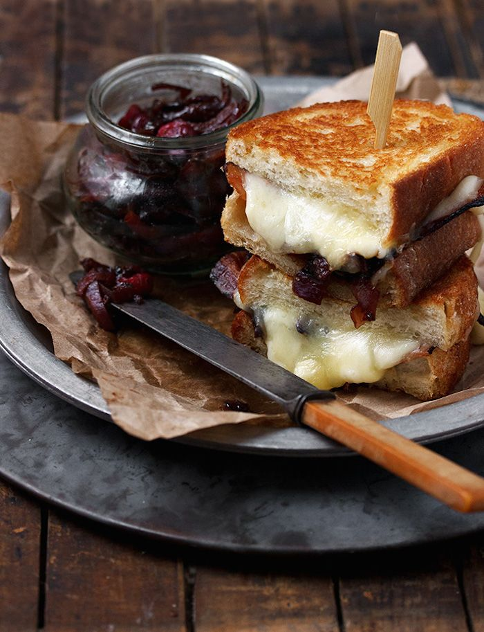 grilled cheese with red onion marmalade | by season and suppers