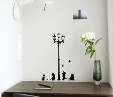 Extraíble Arte Vinilo citar hágalo usted mismo pegatinas de pared calcomanía Mural Casa Decoración de la Sala de Gato