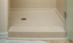 Corian shower pan