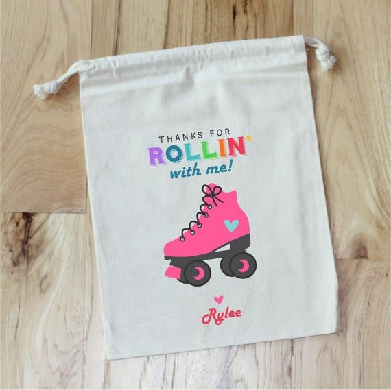 Personalized Treat Bags Treat Favor Bags Roller Blade Birthday Favor Bags Skate Party Bags Rollerblade Birthday Party Favors
