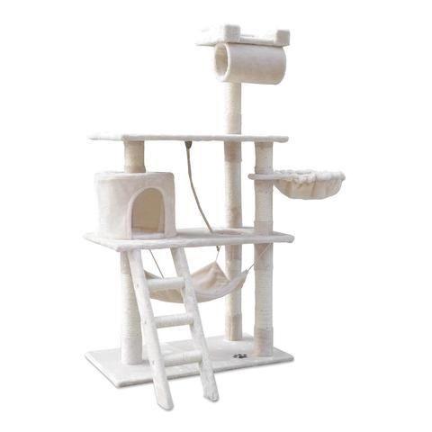 Cat Scratching Post  Tree House Condo 141cm Beige