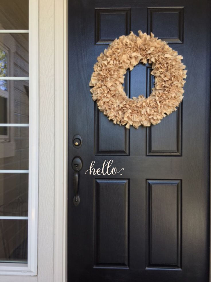 Hello Wall Decal - Farmhouse Decor - Farmhouse Wall Decor - Hello. Door Decal Vinyl Lettering for a front door - Country Cottage Decor by JustTheFrosting on Etsy https://www.etsy.com/listing/277074726/hello-wall-decal-farmhouse-decor