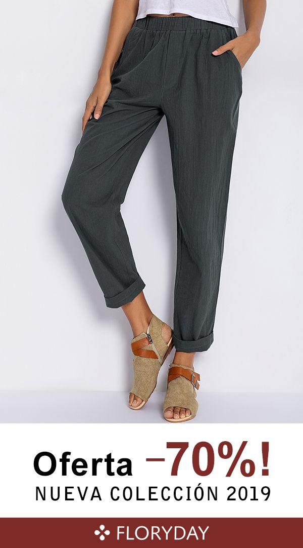 Pantalones Rectos De Tallas Grandes Para Mujer Pantalones Chandal Mujer Pantalones De Moda Pantalones