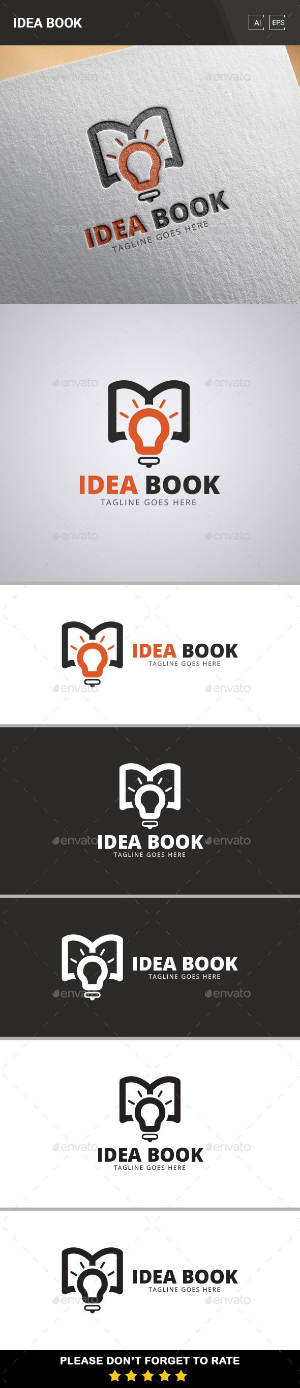Idea Book Logo Template