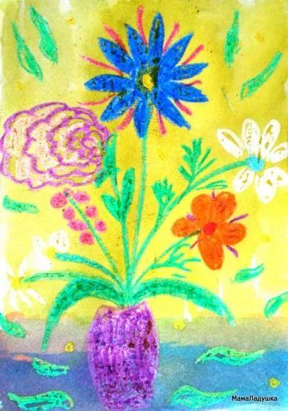 Открытка — Восковые цветы | МамаЛадушка
