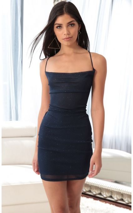 d96b219f Party dresses > Lace Back Bodycon Dress In Sparkling Blue Sapphire ...
