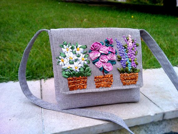 EXCLUSIVE EMBROIDERED HANDBAG Tote bag lupines Tote by PeraMantica, $20.00