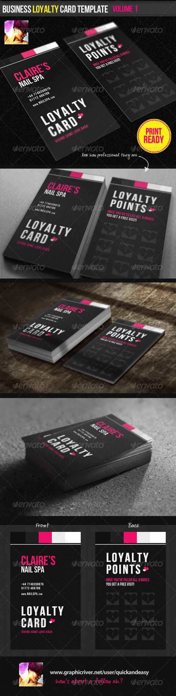 Business Loyalty Card Template Vol 1 Loyalty Card Design Loyalty Card Template Loyalty Card