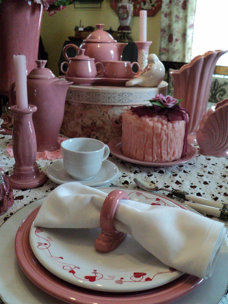 Fiesta® Valentine\u0027s Day tabletop with Rose Fiesta® Dinnerware. & 470 best Fiesta® / Homer Laughlin China: Valentine\u0027s Day images on ...