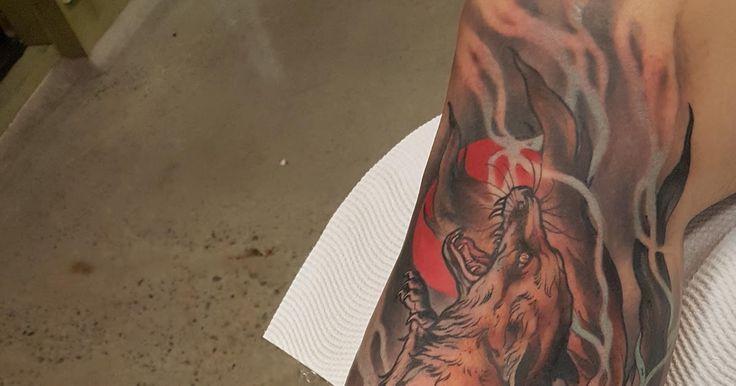 Nine Tailed Fox by Rachi at Black Throne Tattoo Brisbane Australia