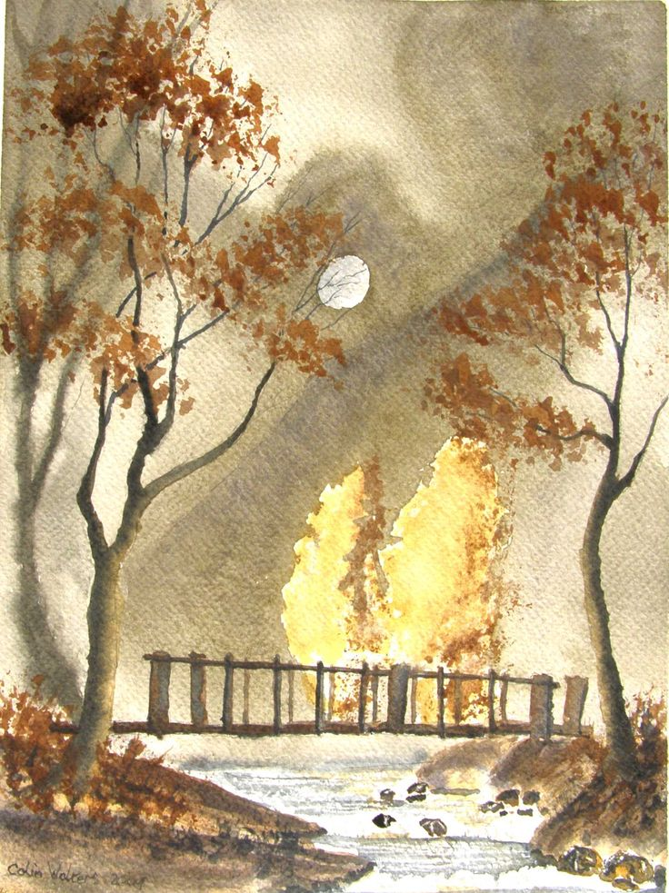 Woodland Bridge 12 x 9 watercolour