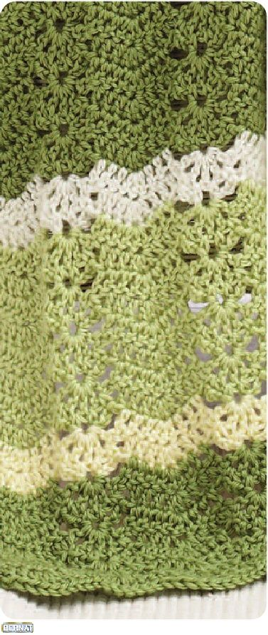 Crochet Lacey Ripple Afghan Pattern  I'm pretty much over ripple afghans, but this one is different, and I love the Bernat Satin colors.