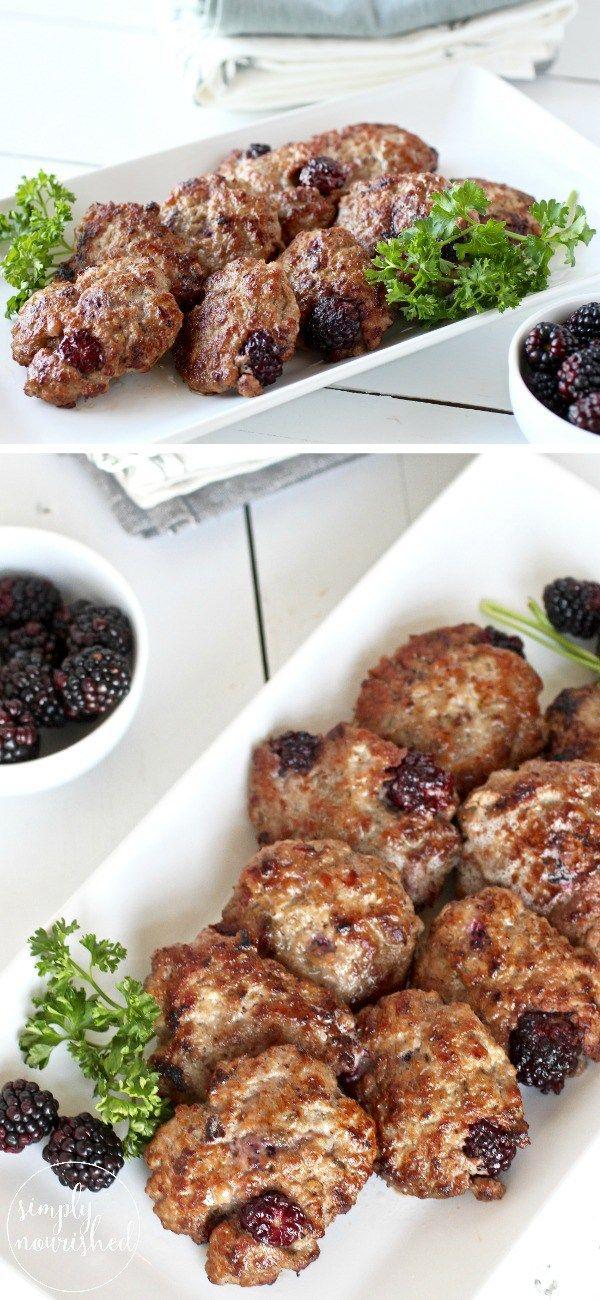 Blackberry Sage Breakfast Sausage