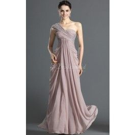 Sheath/Column One Shoulder Long Lavender Chiffon Evening Dresses(BD496.139)_Good Colour and design_one of the best