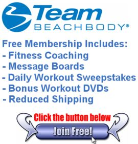 FREE membership!  I lost 136lbs with Beachbody, P90X, Shakeology and the help of my team!  YOU CAN TOO!