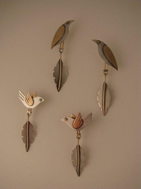 The Jewelry of Ahlene Welsh - Bird Earrings