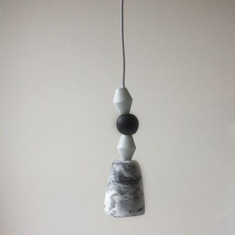 Swirl Beaded Resin Pendant Light