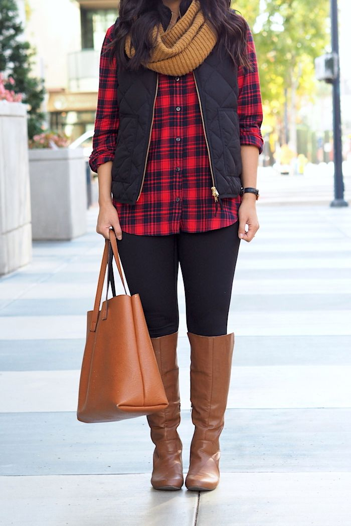 superb red plaid shirt outfit