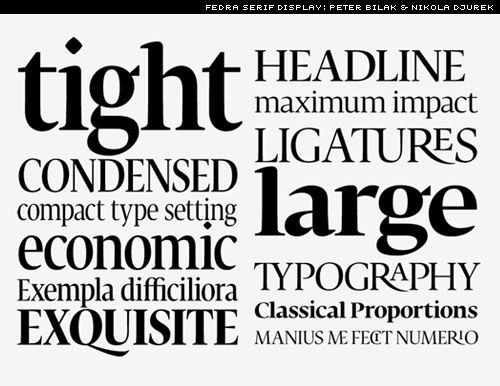 fedra serif display