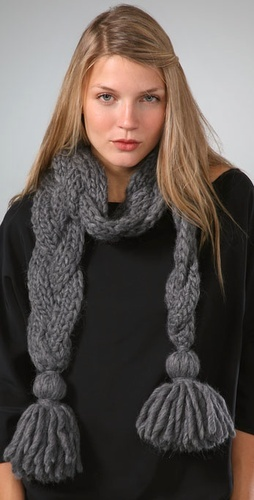 Loving this scarf.  May try my own version in crochet.