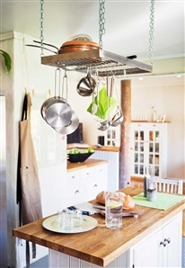 Great way to store kitchen utensils.