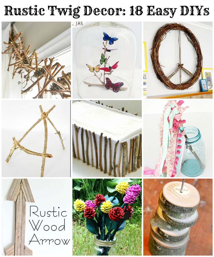 Rustic decor made with twigs, branches, grapevines and similar are a very popular home decor trend right now. You can make your own rustic twig decor with the following DIYs from some very creative…