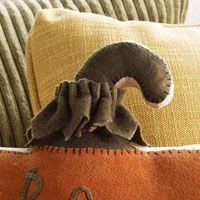 Felted Wool Pumpkin Pillow for Fall