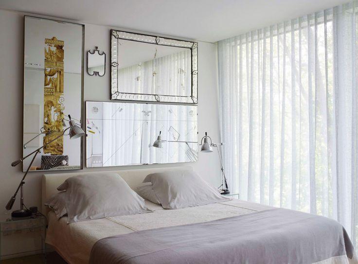 mirrors as headboard, bedroom by YABU PUSHELBERG