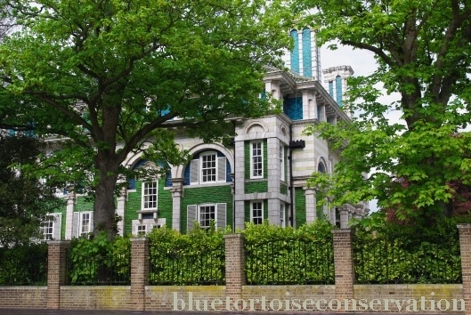 """Interior and exterior tiles are breathtaking! Debenham House in Holland Park at No. 8 Addison Road. Arts and Crafts style house - an example of """"Structural Polychromy"""""""