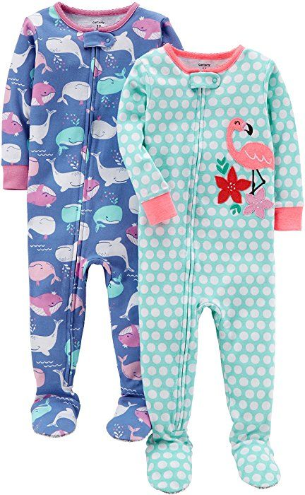 Amazon.com  Carter s Baby Girls  2-Pack Cotton Footed Pajamas ... 4fb9ef19a