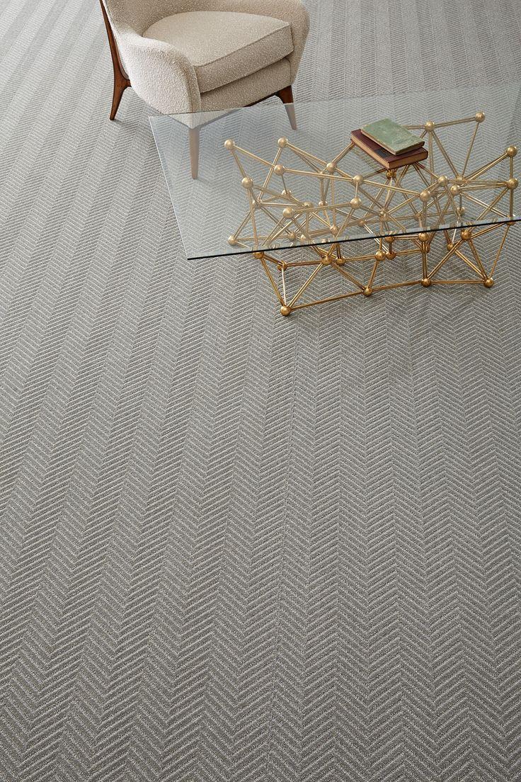 Timeless large scale herringbone carpet #totallycarpet
