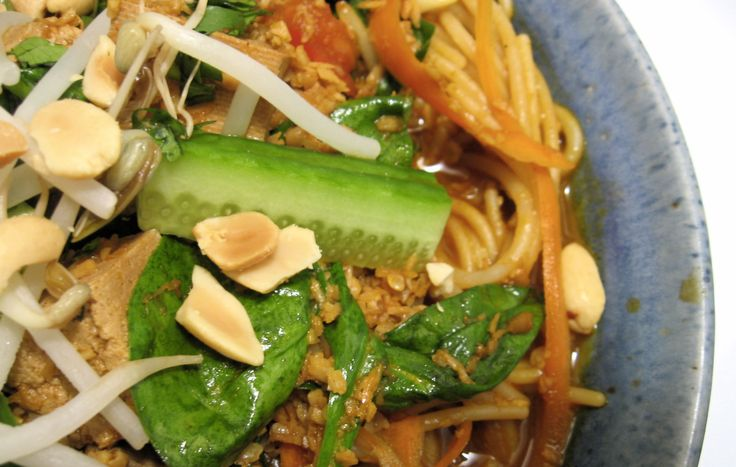 Thai Noodles from Fresh restaurant in Toronto.