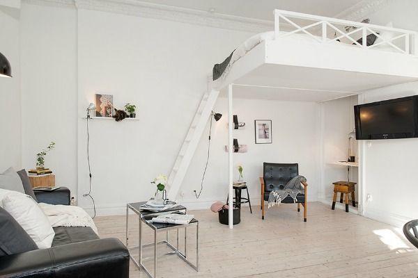 Door een hoog bed blijft er veel vloer oppervlakte vrij. Dat zorgt voor extra woonruimte of extra opbergruimte