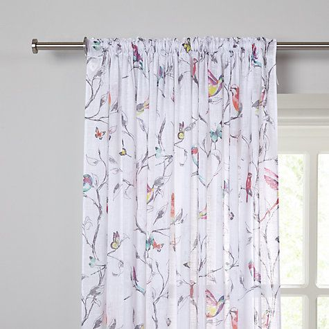 Buy John Lewis Hummingbird Voile Panel Multi Online At Johnlewis
