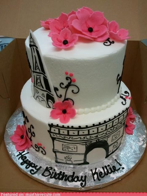 Pretty Paris cake from Must Have Cute.