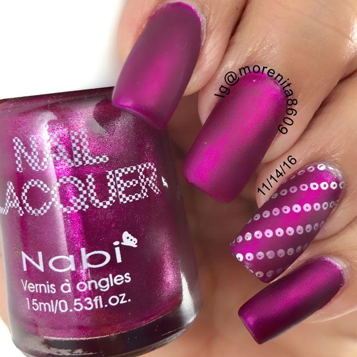Matte Fuschia Nails