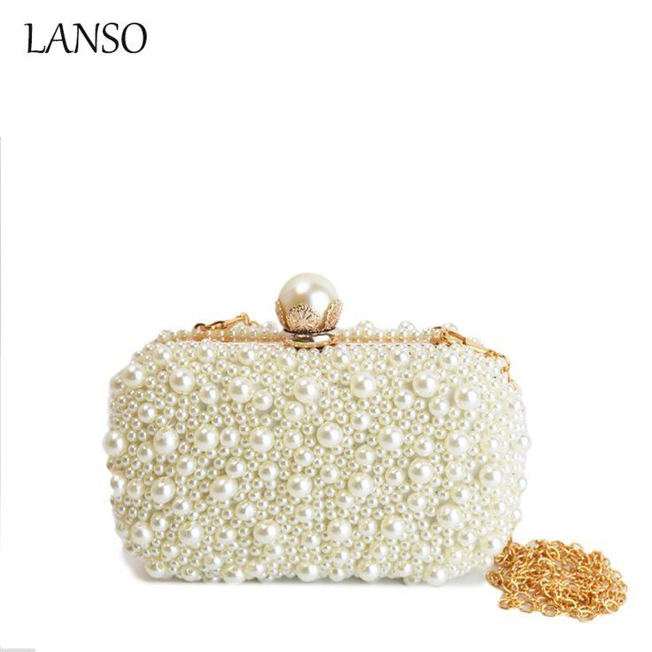 Berühmte Luxusmarke Peal Perlen Metall Erfasst Abend Frauen Kette Messenger Taschen Designer Brieftasche Hochzeit Hardcase //Price: $US $28.79 & FREE Shipping //     #cocktailkleider