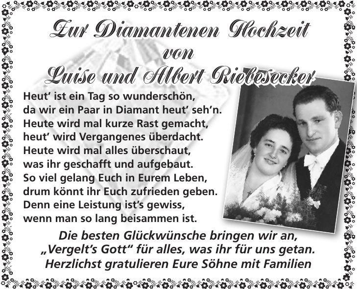 Gratulation Zur Diamantenen Hochzeit Sprüche Diamantene
