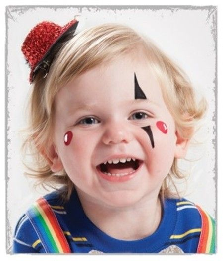 cara pintada de payaso para Carnaval