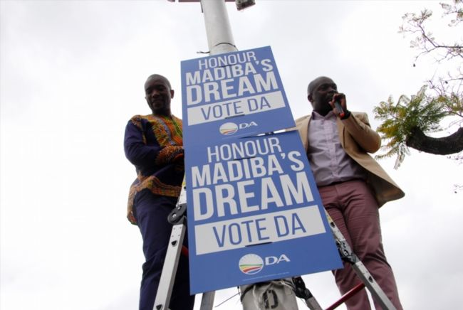 "Democratic Alliance a 'haven for racists' TheANC has once again slammed the Democratic Alliance's ""appropriation"" of former president Nelson Mandela for its election campaigns. http://www.thesouthafrican.com/democratic-alliance-a-haven-for-racists/"